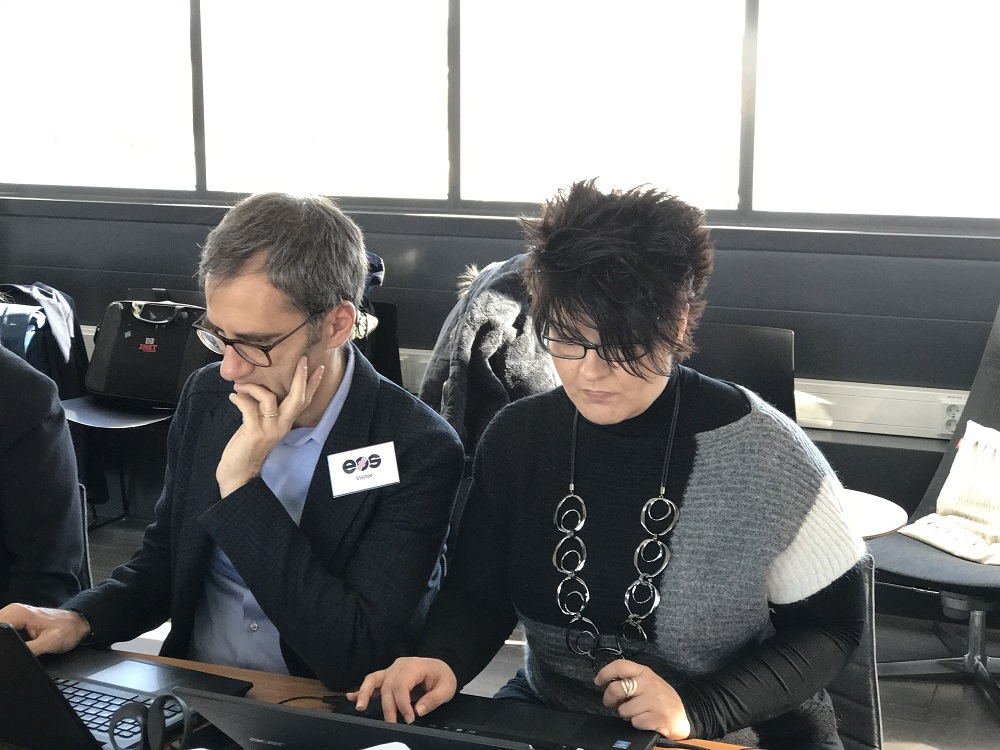 Massimo Rinaldi and Cinzia Iacono of beWarrant at the first technical meeting - Dream project