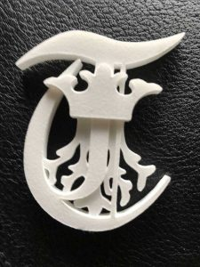 Brasov-University-Symbol-made-with-additive-manufacturing-for-DREAM-project