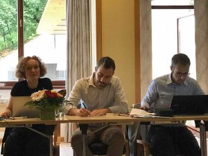 Elena-Bassoli-Andrea-Merulla-and-Massimo-Rinaldi-at-DREAM-2nd-technical-meeting